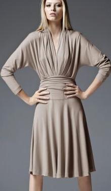 Rochie drapata de toamna