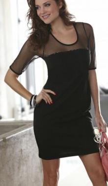 Rochie neagra cu plasa