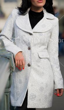 Palton LaDonna Frozen Beauty alb