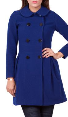 Palton albastru din lana