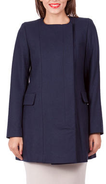 Palton bleumarin din lana