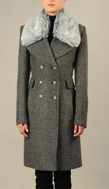 Palton din stofa tweed