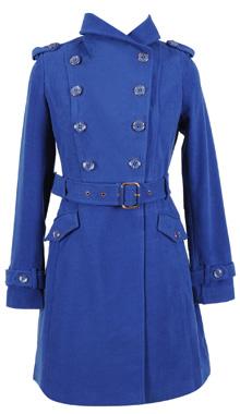 Palton stofa albastru