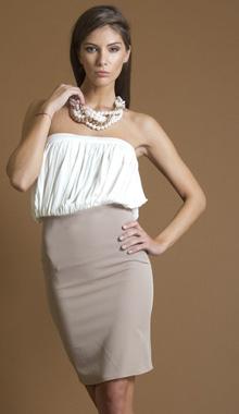 Rochie in doua culori Nola Fashion
