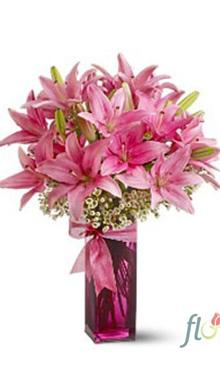 Buchet de 11 crini roz