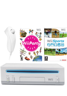 Consola Nintendo Wii Party Pack alba