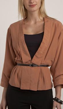 Jacheta kimono din crep fluid