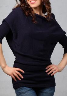 Pulover Violetta bleumarin
