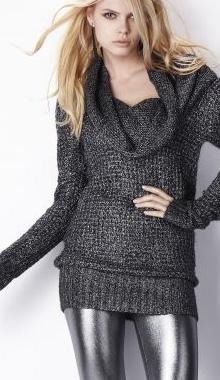 Pulover tunica gros pentru femei