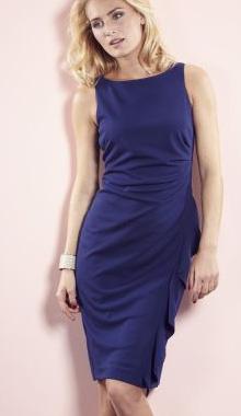 Rochie albastra fara maneci