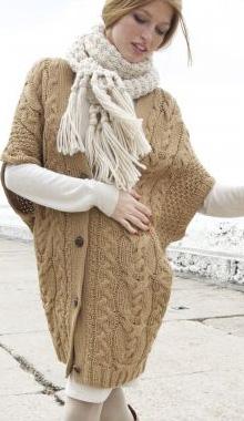Vesta lunga tricotata pentru femei