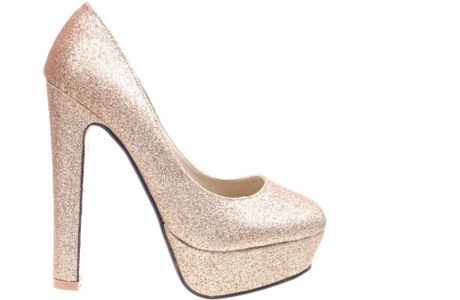 Pantofi de dama aurii Daisy