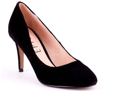 Pantofi eleganti negri din piele intoarsa