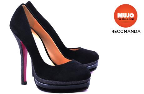 Pantofi negri cu toc stiletto Seduction