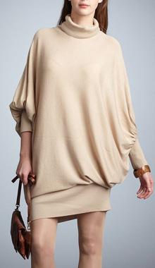 Rochie pulover cu maneci lungi