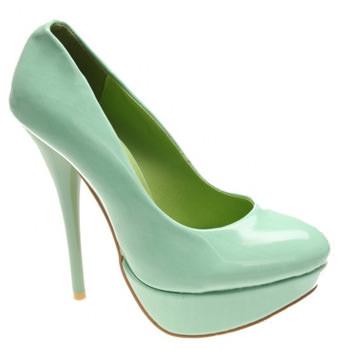 Pantofi Tropical green