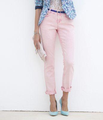 Blugi slim roz pentru femei
