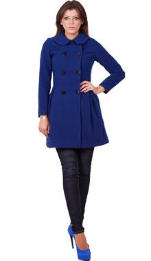 Mantou albastru din lana