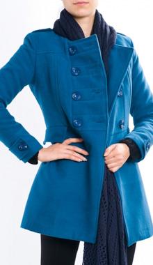 Palton albastru cu epoleti