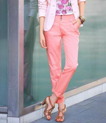 Pantaloni chino cu catarame