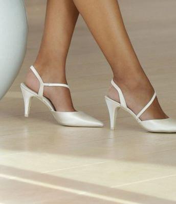 Pantofi albi de mireasa 3 Suisses