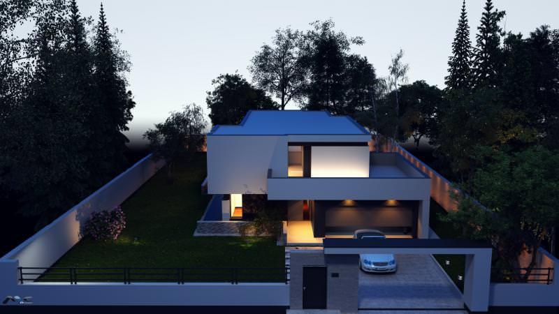 4 proiecte interesante de case mici mujo for Case cu etaj si garaj