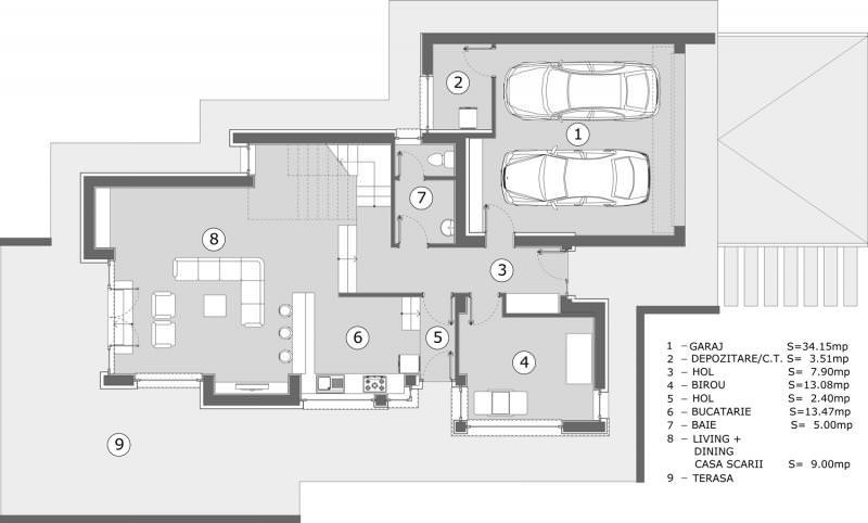 Casa Andy plan parter