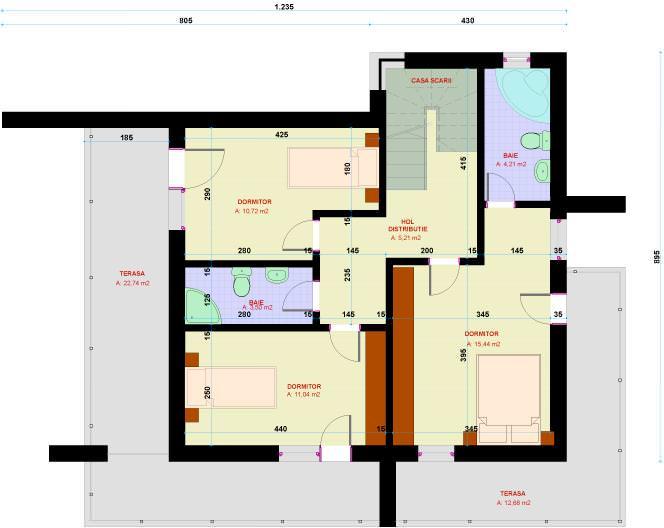 Casa Ana plan etaj