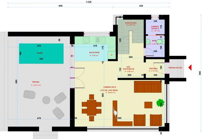 Casa Ana plan parter