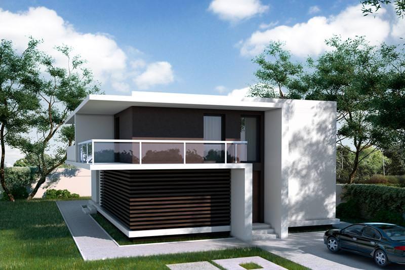 4 proiecte interesante de case mici mujo for Casa cub moderne