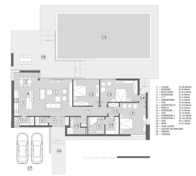 Proiecte case parter Casa Farm House plan parter