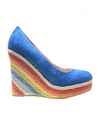 Pantofi albastri Rainbow