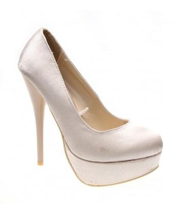 Pantofi beige satin like a lady