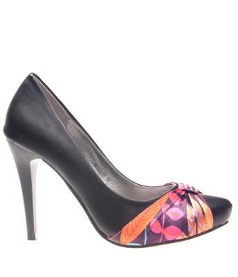 Pantofi negri dama Carol