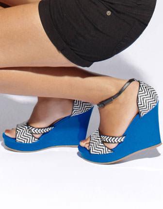 Sandale cu platforma albastra