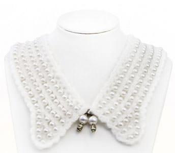Gulere detasabile online perle Eveline
