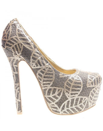Pantofi cu paiete gold Juandalynn