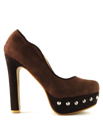 Pantofi dama Vera kaki
