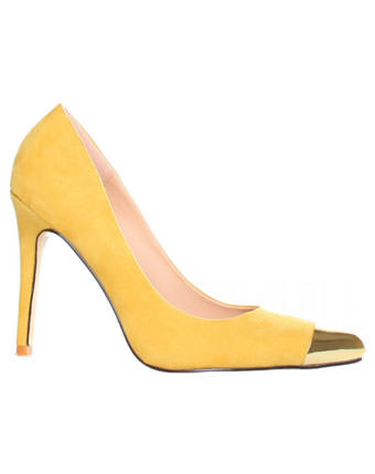 Pantofi femei stiletto GAS galbeni