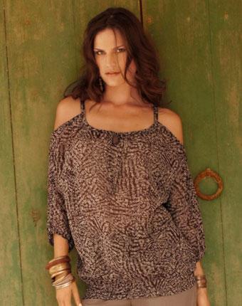 Bluze de dama online vaporoasa cu maneca 3/4