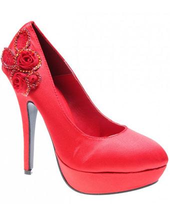 Pantofi de dama Red Satin Bittersweet