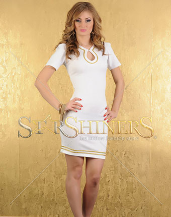 Rochie LaDonna Gold Appear White