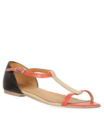 Sandale corai cu negru