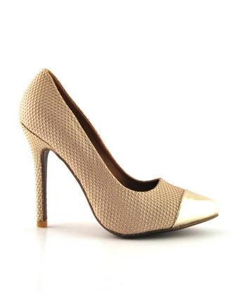 Pantofi Dona bej