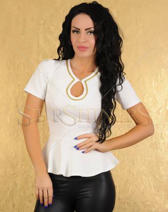 Bluze de dama online LaDonna Gold Appear White