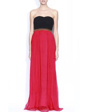 Rochie de ocazie rosu cu negru