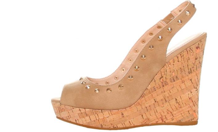 Sandale cu platforma maro deschis