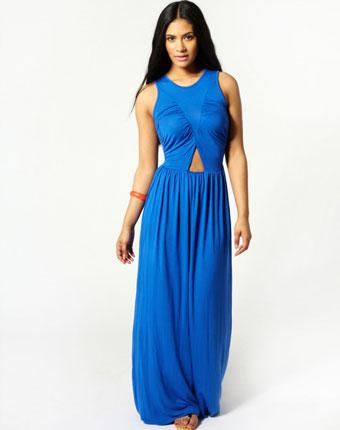 Rochie albastra maxi