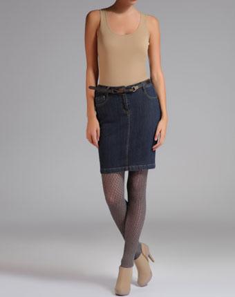 Fusta jeans navy
