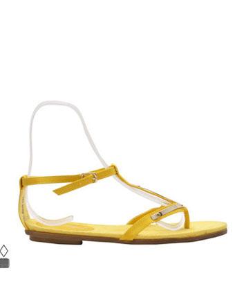 Sandale galbene cu talpa joasa